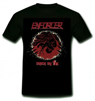 ENFORCER - Death By Fire T-Shirt, L