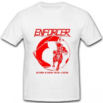 ENFORCER - Death Rides This Night White TS