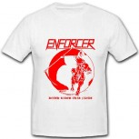 ENFORCER - Death Rides This Night White TS, L