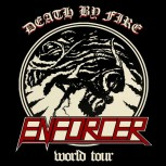 ENFORCER - Death By Fire World Tour Sticker / Aufkleber Set
